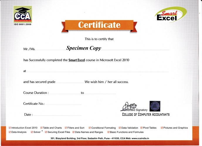 cca india accounting course tally professional institute tally